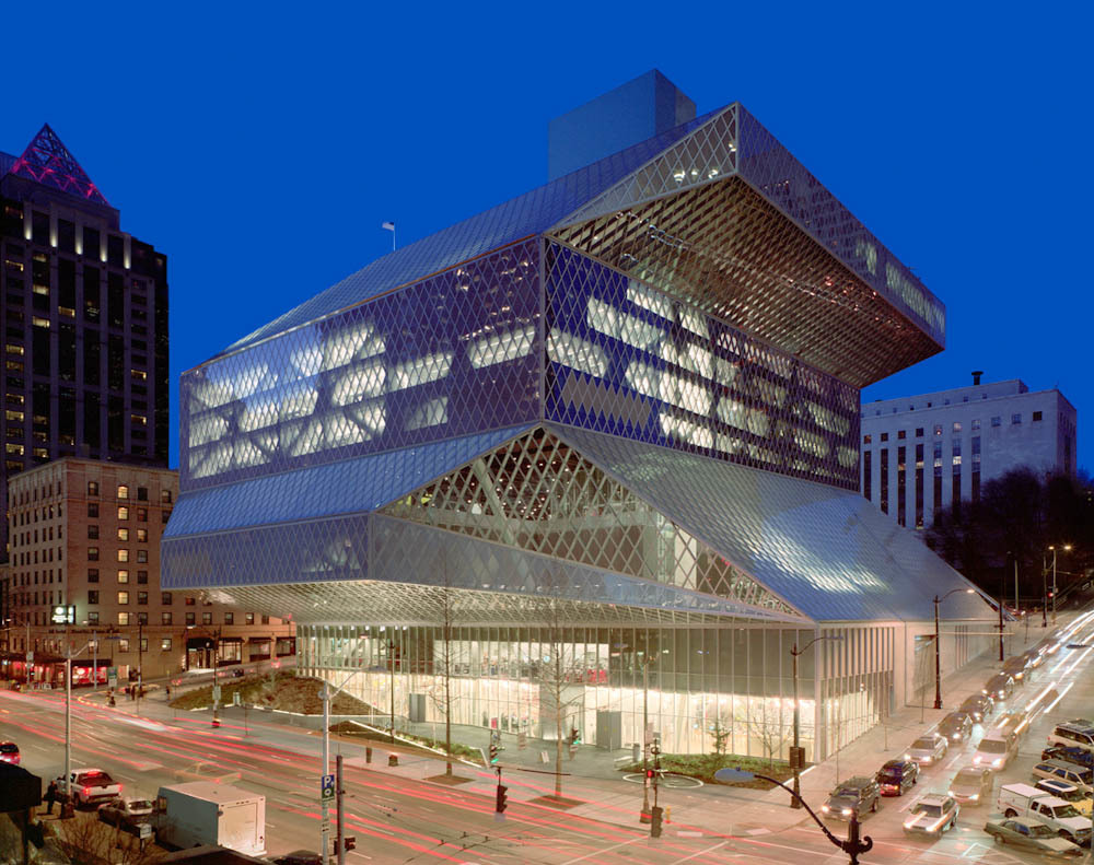 Seattle Central Library,  1000 4th Ave, Seattle, Wa.