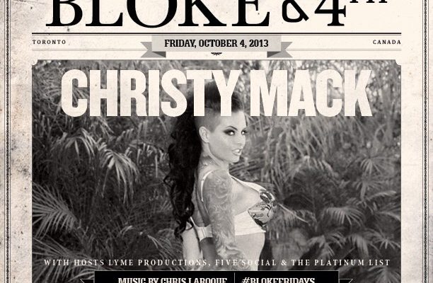Christy Mack at blokeand 4th
