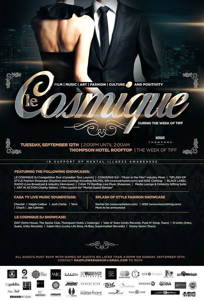TIFF - LE COSMIQUE event on Tuesday, September 12th