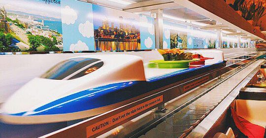 Toronto Sushi Restaurant with Monorail Inside
